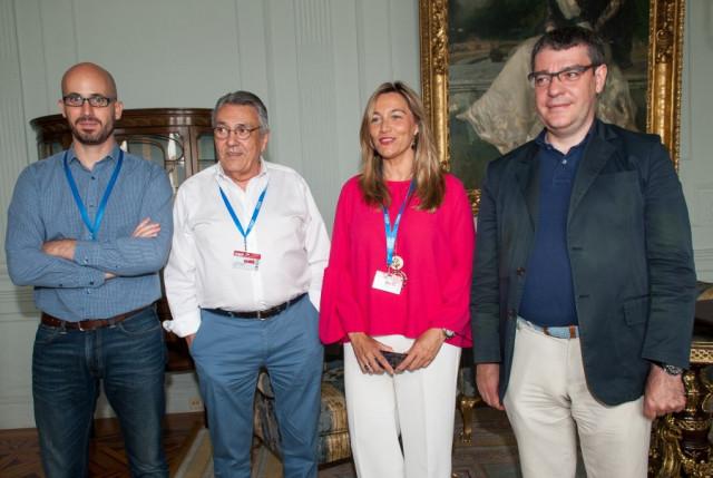 Nacho Álvarez (Podemos), Manuel Escudero (PSOE), Susana Solís (C's) y Álvaro Nadal (PP) / Foto: APIE