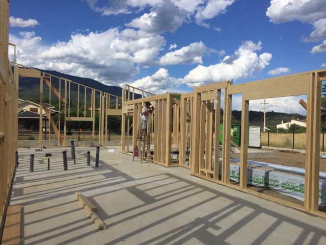 Estructura de una vivienda de madera de la empresa catalana House Habitat / House Habitat
