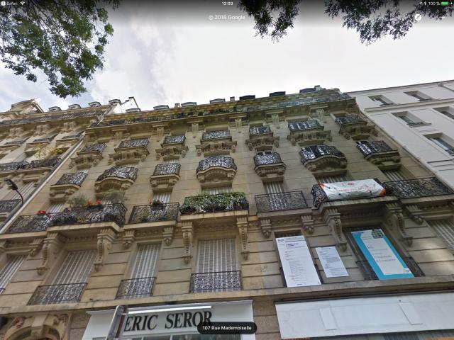 Viviendas sociales de la Rue Mademoiselle 76 en un entorno de 10.000 euros por m2 / Google