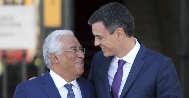 Antonio Costa, primer ministro de Portugal; y Pedro Sánchez, presidente del Gobierno de España / Gtres