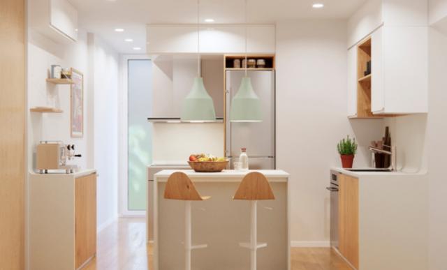 5 Trucos Utiles De Decoracion Para Cocinas Estrechas Y Pequenas