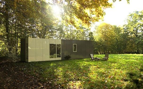 Exterior del modelo Cube Basic 36 m2 / Cube