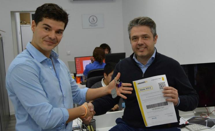 Los fundadores de Garantify: Sergi Rodríguez, CTO, y Sergio Gonzálvez, CEO. / Garantify