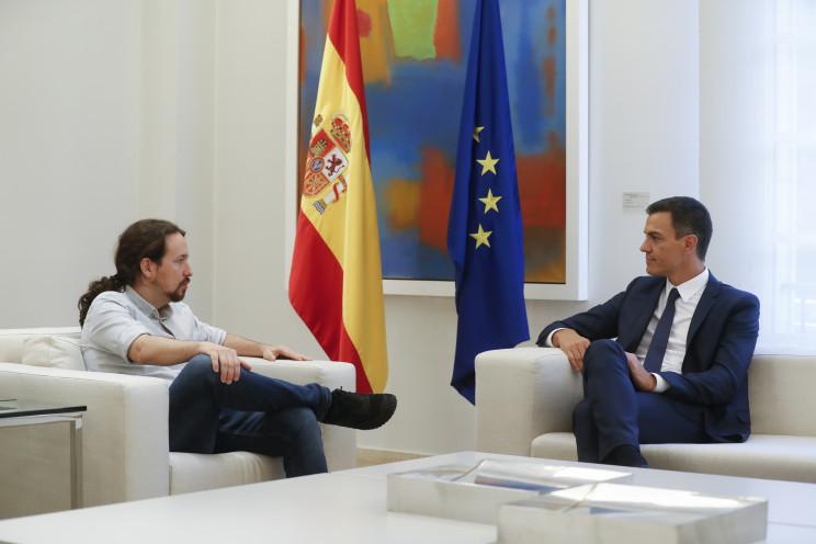 Pablo Iglesias y Pedro Sánchez en un encuentro en septiembre de 2018 / Gtres