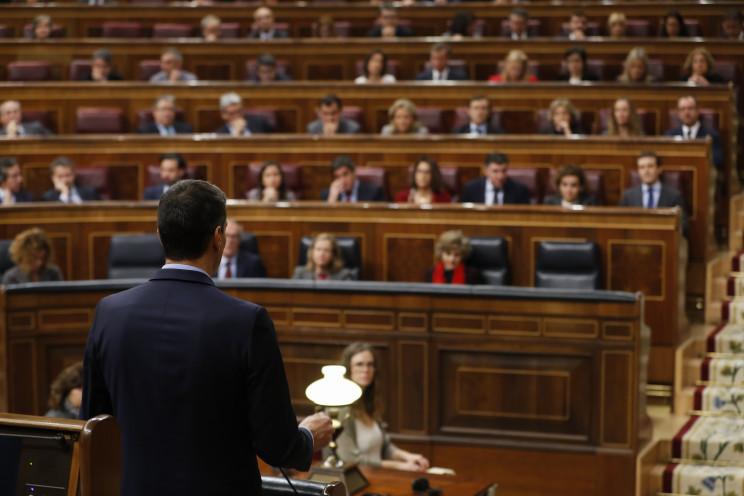Pedro Sánchez, presidente del Gobierno, en el hemiciclo del Congreso / Gtres