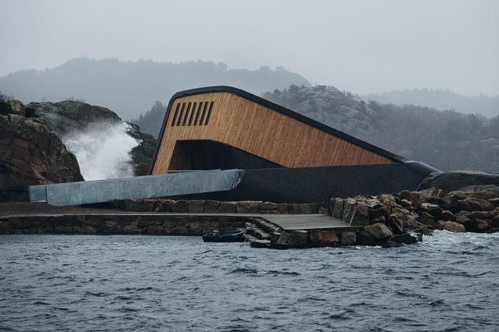 Es el primer restaurante submarino de Europa /  Snøhetta