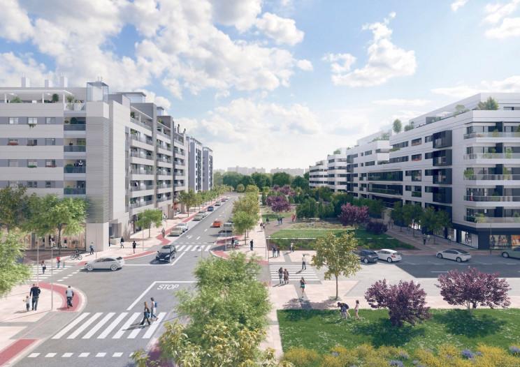 El nuevo residencial en Parque Central de Ingenieros de Villaverde / AQ Acentor