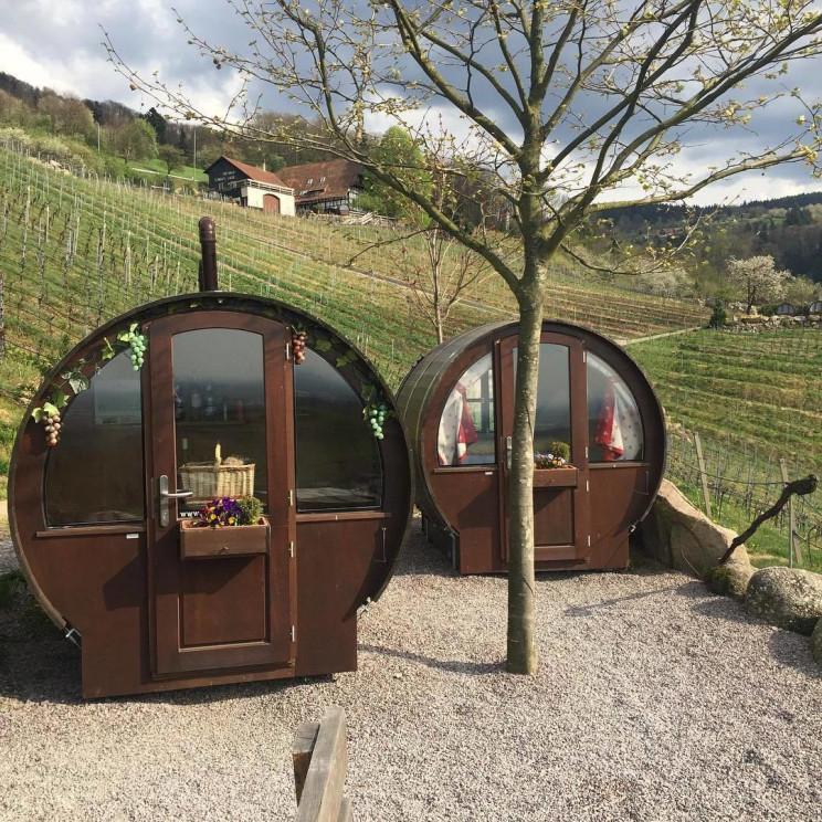 Un hotel hecho a medida para los amantes del vino / Schlafen im Weinfass