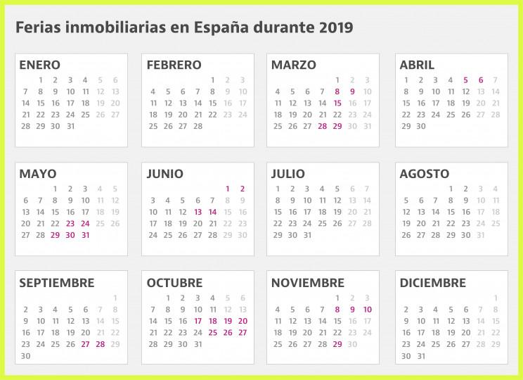 Calendario Laboral Pontevedra 2020.El Calendario Con Todas Las Ferias Inmobiliarias En Espana Durante