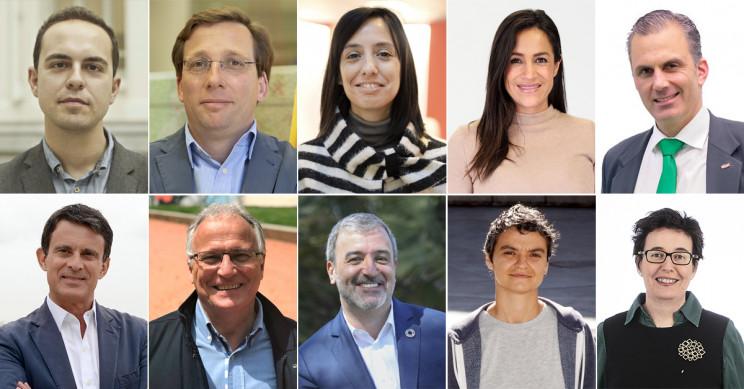Candidatos a la alcaldía de Madrid y Barcelona