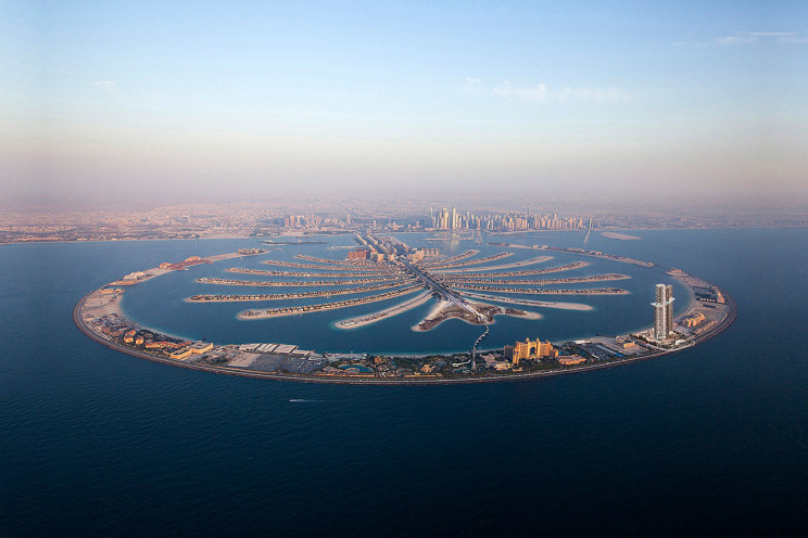 Vista aérea de Palm Jumeirah