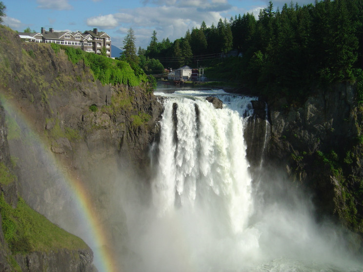 Las cascadas de Snoqualmie, en Washington (EEUU) / Wikimedia commons