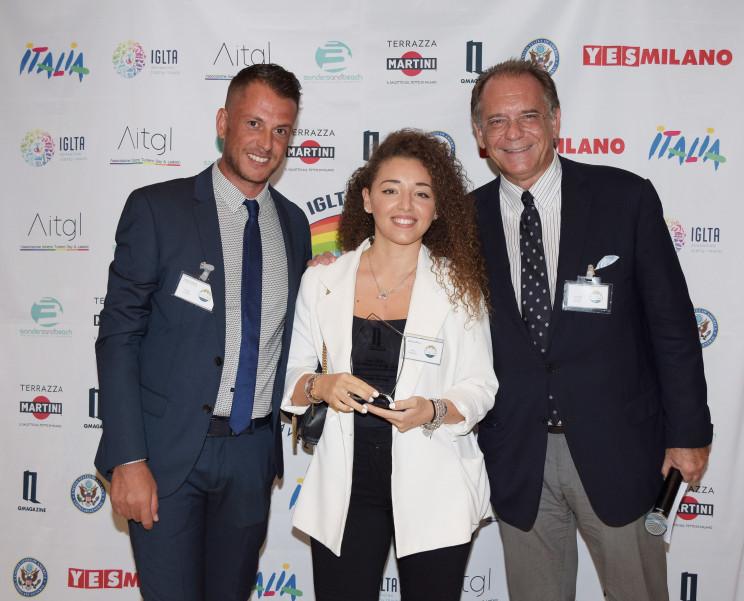 De izq. a drcha. Andrea Cosimi, Paola Carioni y Alessandro Cecchi Paone