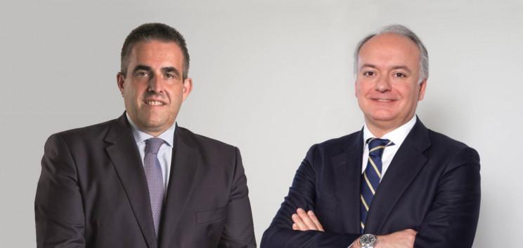 Víctor del Pozo, consejero delegado de El Corte Inglés (izquierda), y Javier Catena, responsable del Real Estate de la compañía.