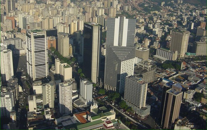 Imagen aérea de Caracas / Wikimedia commons