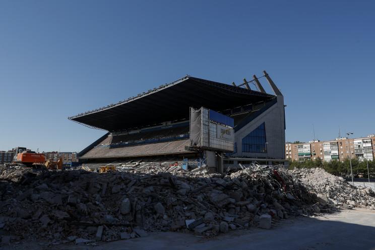 Obras de derribo del ya desaparecido Estadio Vicente Calderón / Gtres