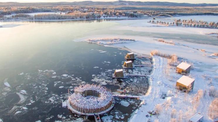 Vista aérea de las instalaciones / Arctic Bath/Anders Blomqvist/Pasquale Baseotto/Johan Jansson