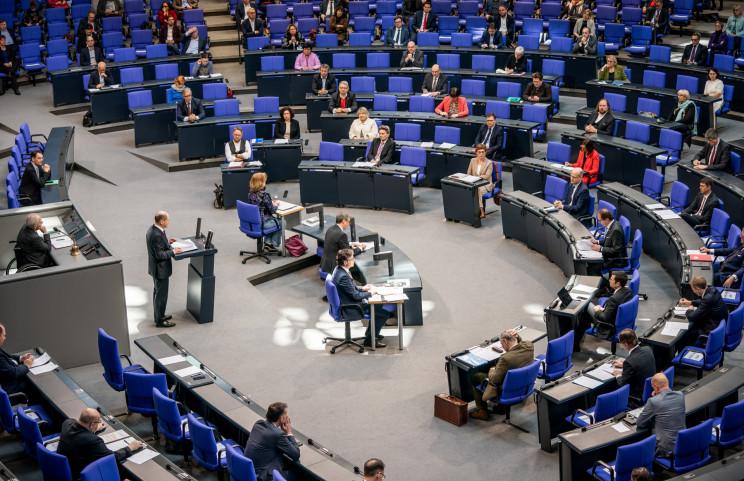 El ministro de finanzas alemán, Olaf Scholz, en el Bundestag / Gtres