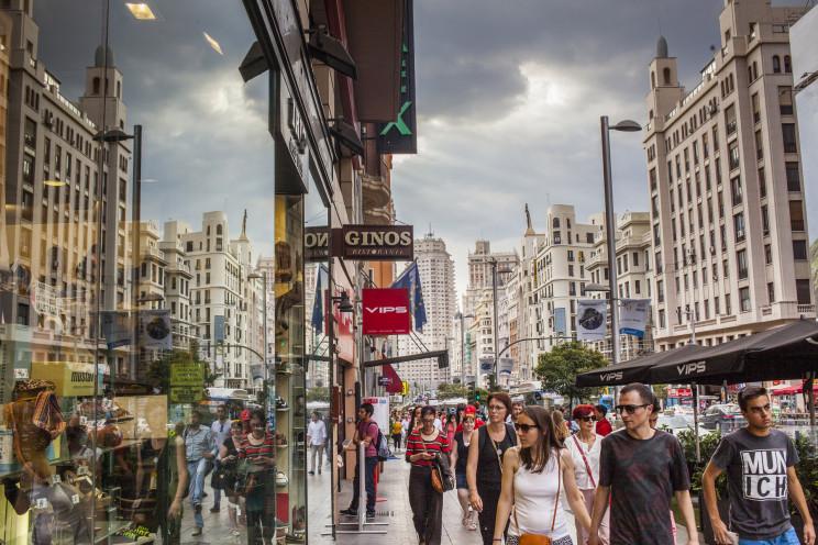 Imagen de la Gran Vía (Madrid). / Gtres