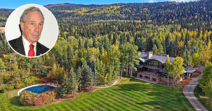 Vista aérea del rancho / Hall and Hall