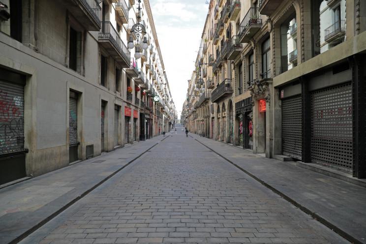 Una calle vacía de Barcelona / Gtres