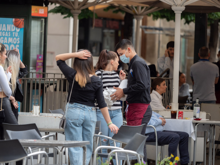 Terrazas ya abiertas en Zaragoza en plena desescalada / Gtres