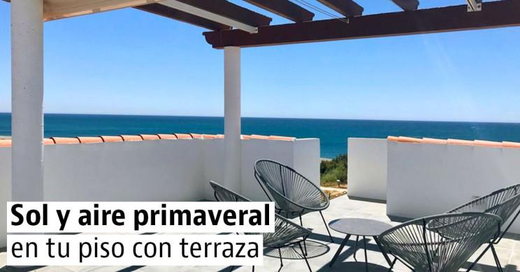 Casas con terraza en las ciudades españolas