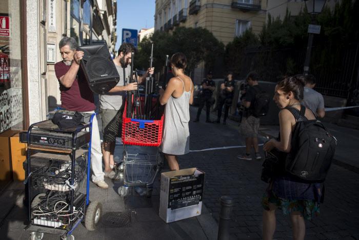 Imagen del desalojo del colectivo Patio Maravillas (Madrid) / Gtres