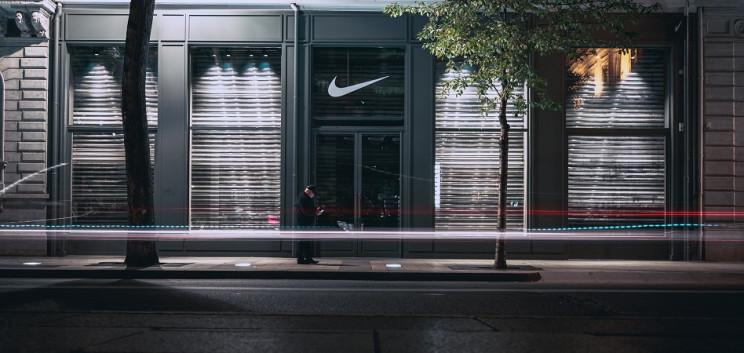 Tienda de Nike cerrada