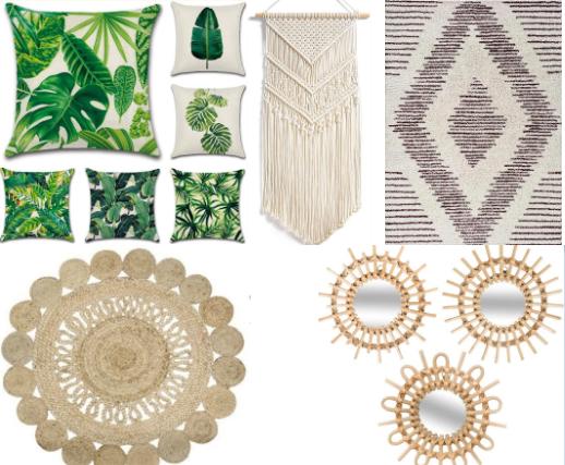 Cojines, alfombras y espejos para completar la decoración