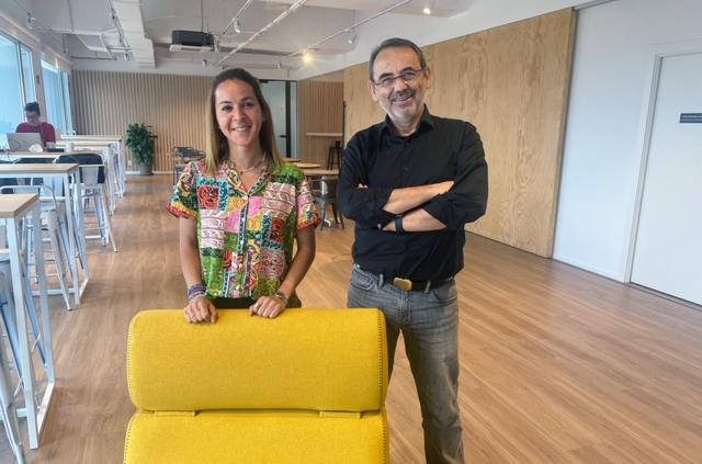 Amal Aoulad-Amar, fundadora de Kasiky, y Quino Fernández, CEO de AticcoLab